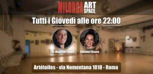 Milonga ArtSpace tutti i Giovedì con Artetoiles @ Art Space | Roma | Lazio | Italia
