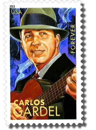Carlos Gardel I Grandi Personaggi del Tango Francobollo