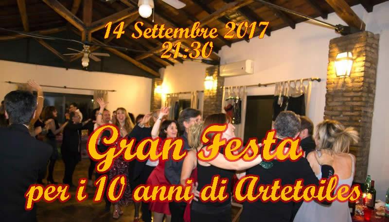 Gran Festa per i 10 Anni di Artetoiles e Apertura Nuova Sede