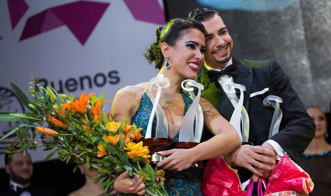 Gioia Abballe e Simone Facchini Secondi nella categoria Tango Escenario