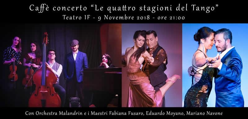 Le Quattro Stagioni del Tango – Caffè Concerto – 9 Novembre 2018